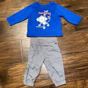 GARANIMALS BOYS LONG SLEEVE T-SHIRT AND PANTS SET